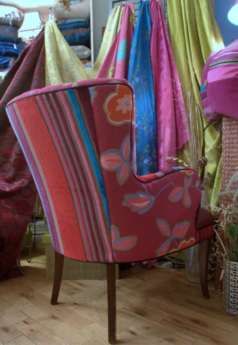 Hand Crafted Upholstered Vintage Arm Chair by Jane Hall