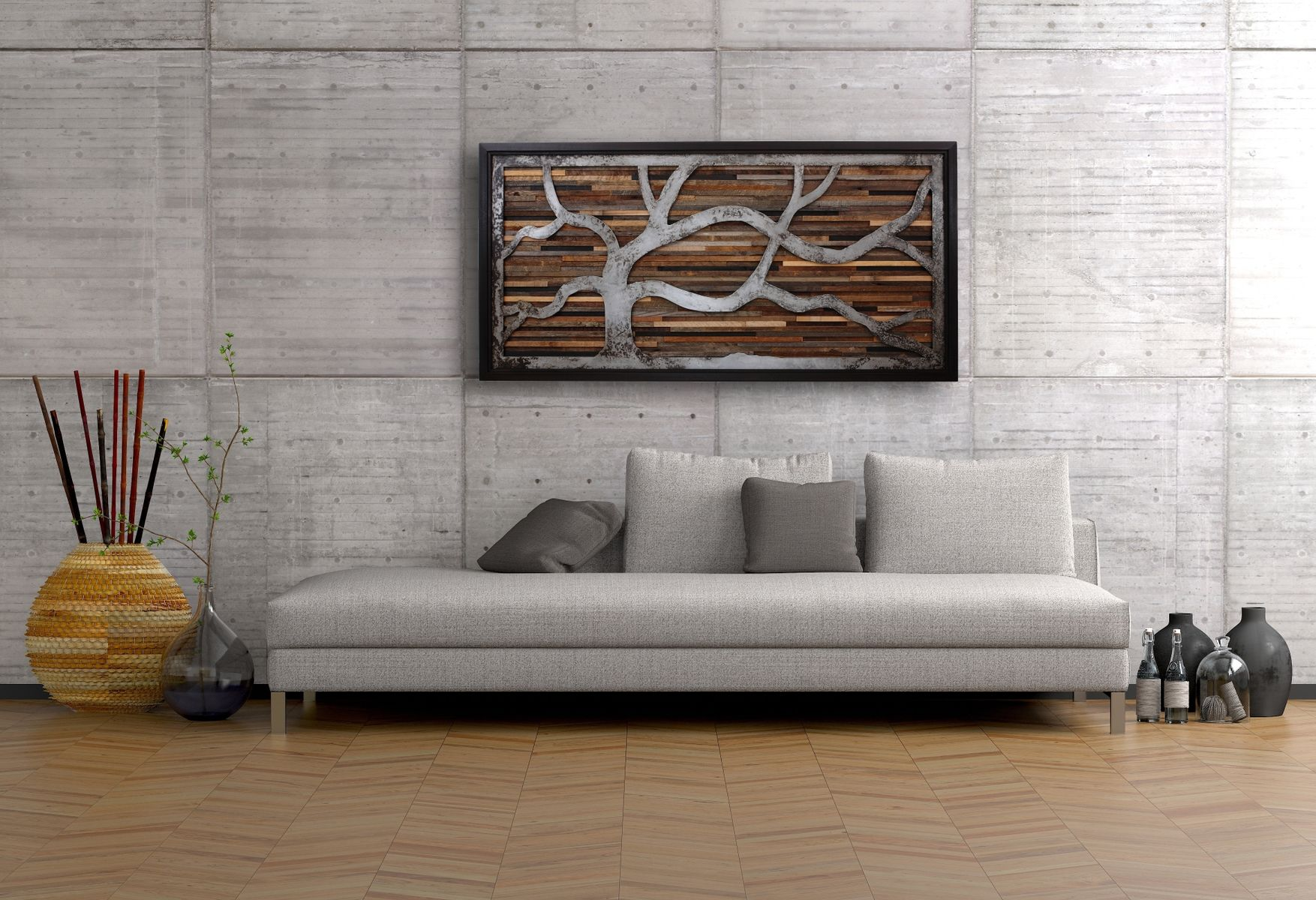 handmade reclaimed wood wall art made of old barnwood and rustic