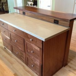 Kitchen Island With Bar Pull Out Spray Faucet Custom Slab Top By Saw Tooth Designs Llc Made