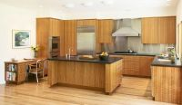 Custom Cherry Wood Modern Kitchen, Bathroom, Living Room ...