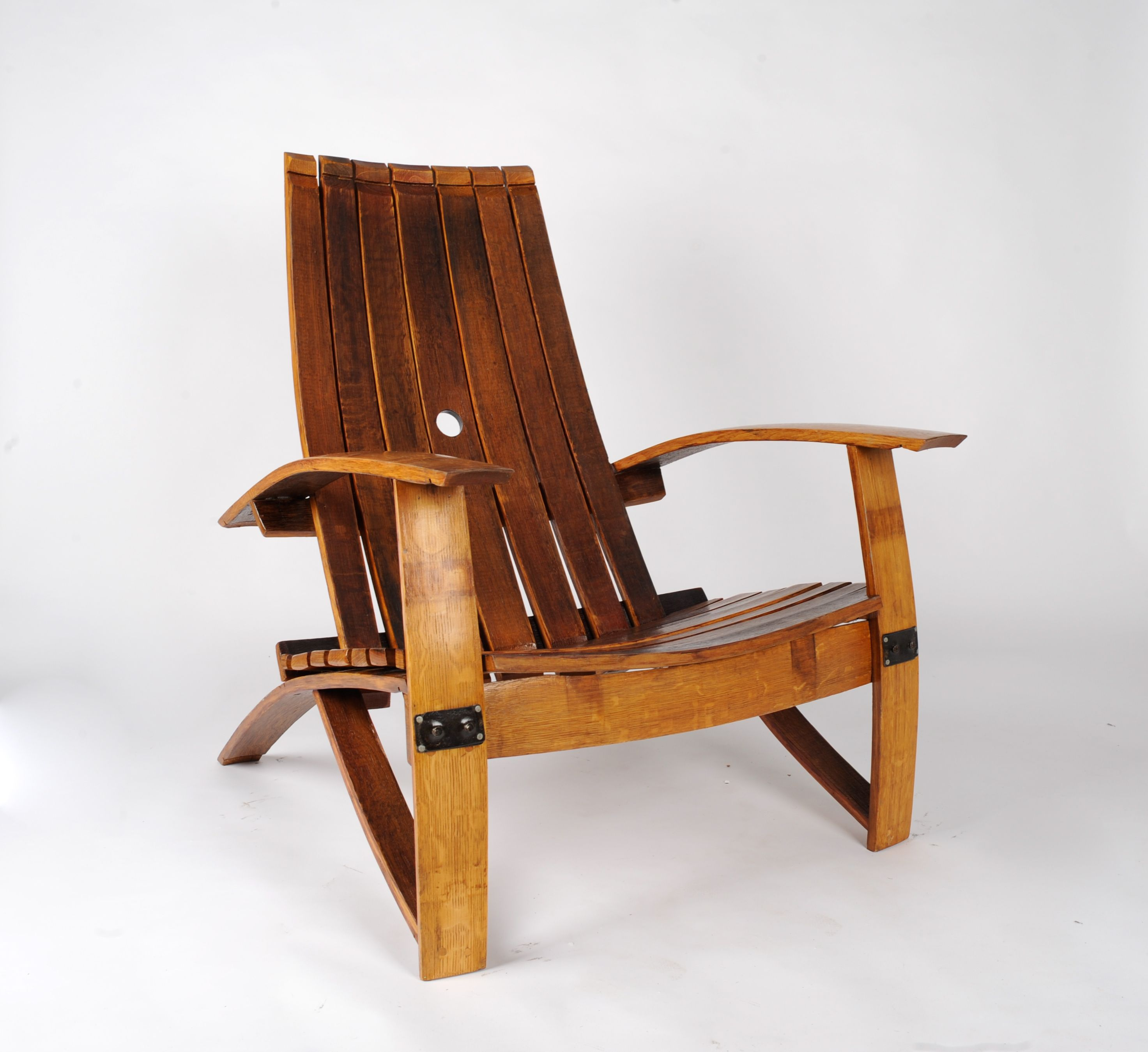 Buy a Hand Made White Wine Barrel Chair made to order