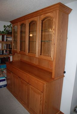 Hand Made Oak China Hutch by Daniel Cabinets  CustomMadecom