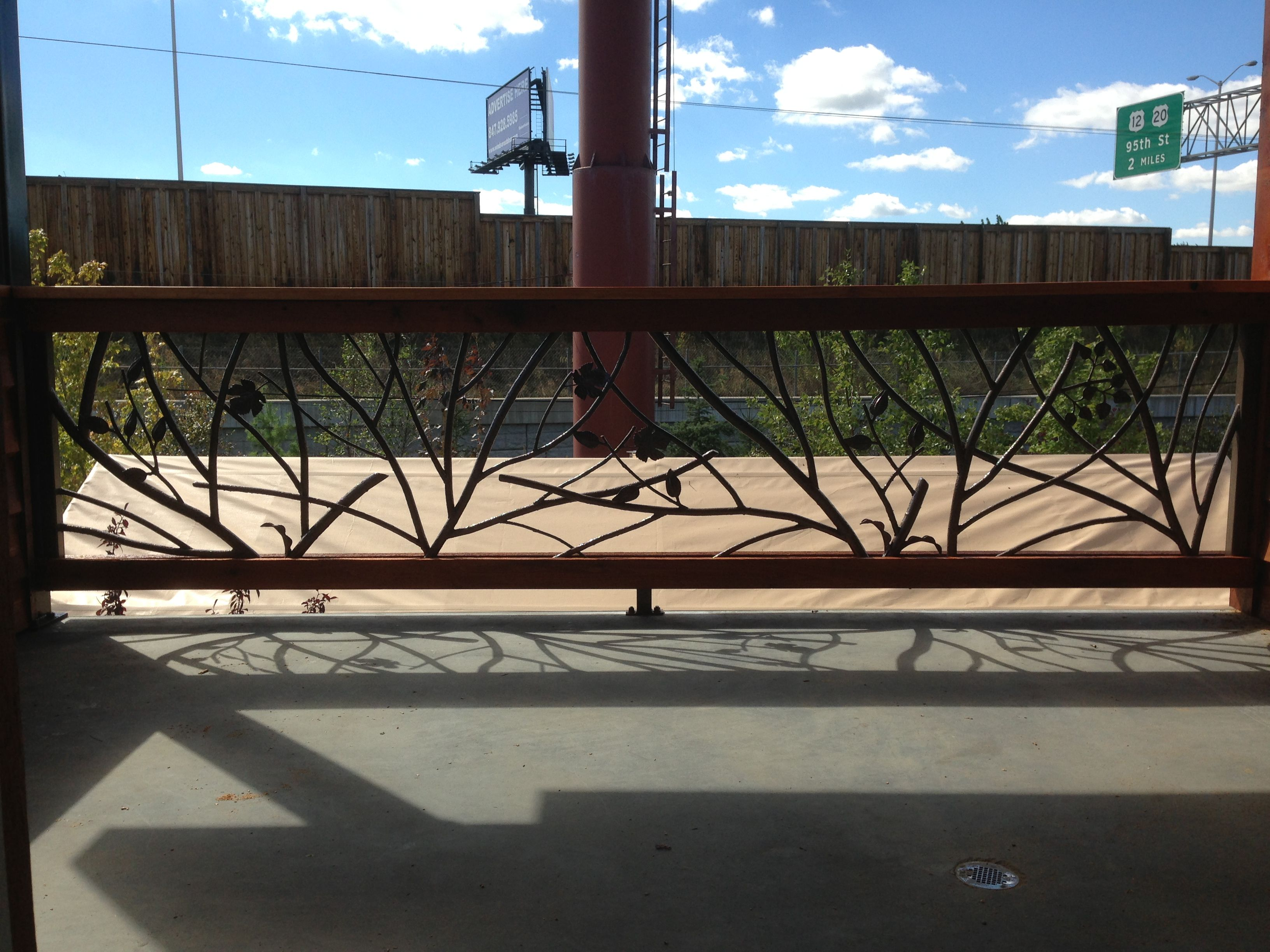 Handmade Tree Branch Railing by Decorative Metal Works