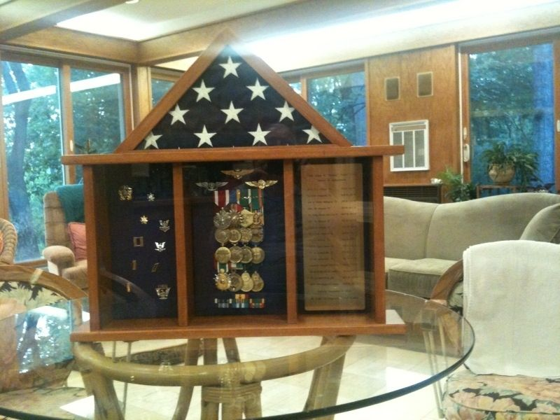 Custom Made Military Retirement Shadow Box By Wooden It Be