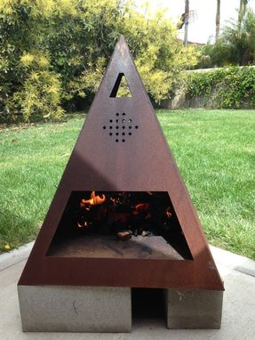 Buy a Custom Outdoor Steel ChimineaFireplace made to