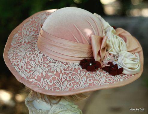 Hand Made Vintage 1900s Edwardian Victorian Hat Wide Brim