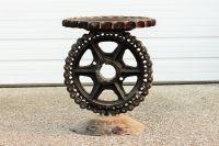 Buy a Handmade Sculptural Metal Pedistal Industrial ...