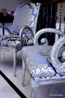 Hand Crafted Upholstered Chair Carved Wood Accent With