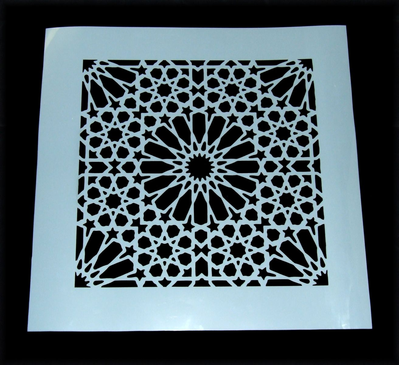 Custom Damask Moroccan Tile Pattern Mylar Stencil Laser