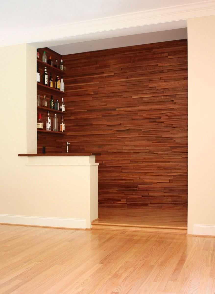 Handmade Stacked Wood Wet Bar By Hefner Woodworking