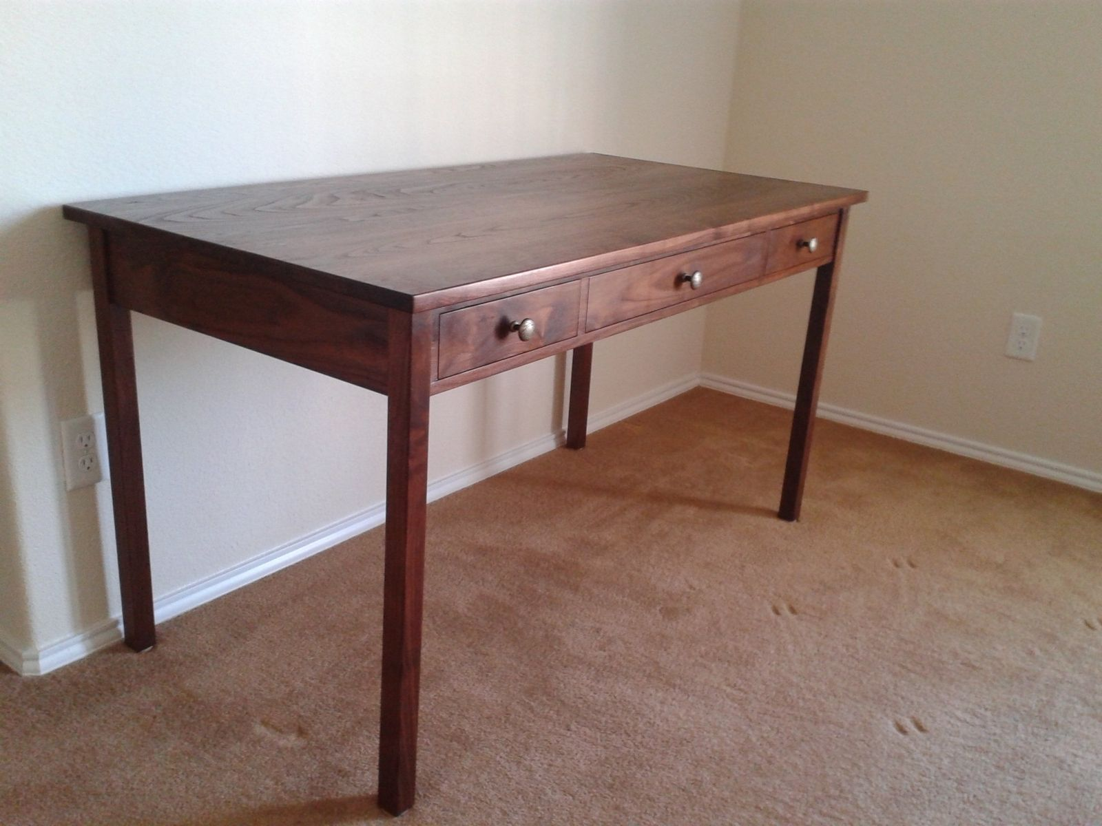 Handmade Walnut Writing Desk by Toms Handcrafted