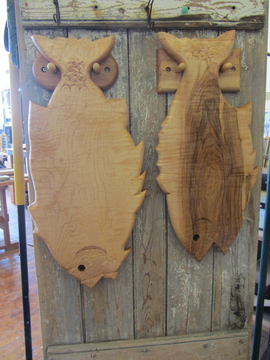 Hand Crafted Hand Carved Hanging Fish Cutting Board by
