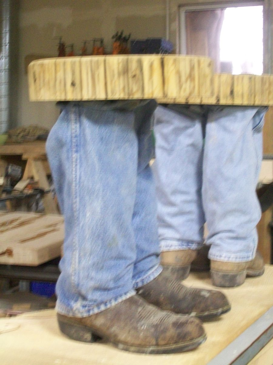 Hand Made Cowboy Boot Table By Fbt Sawmill Amp Custom Wood Furniture