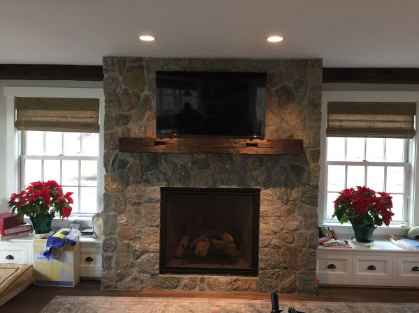 Hand Rustic Fireplace Mantel .karl Llc