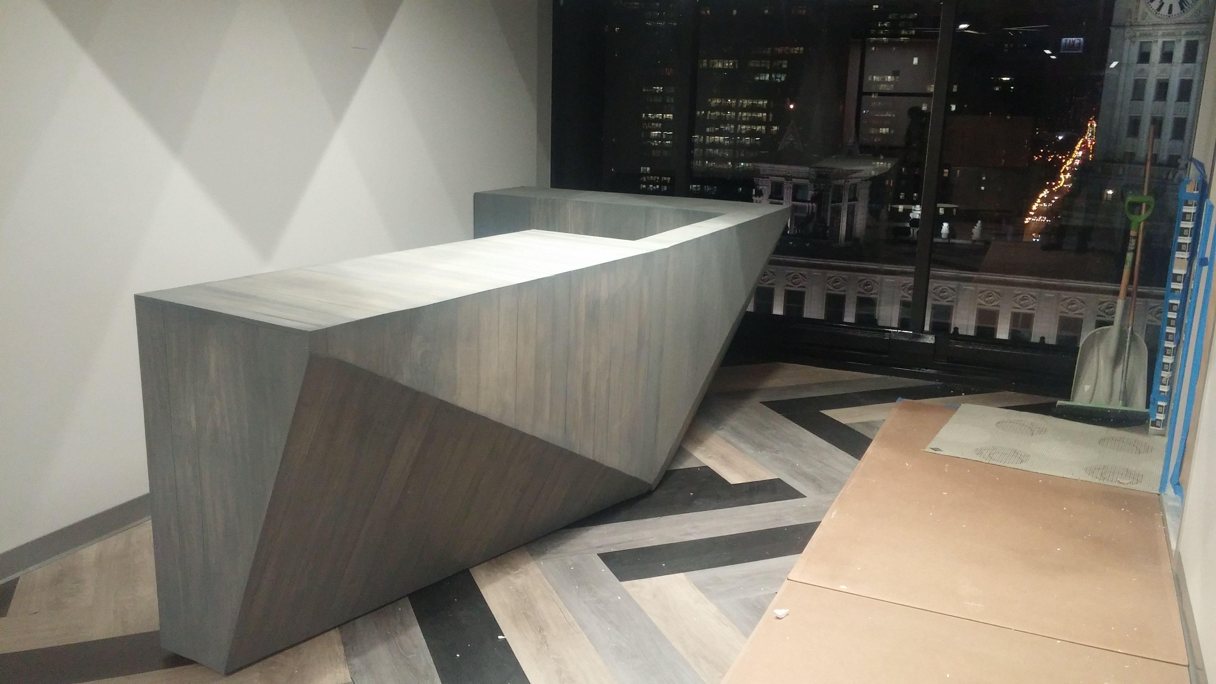Hand Made Custom Modern Reception Desk by The Urban