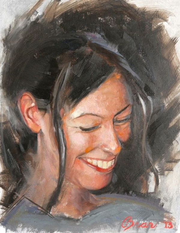 Handmade Realistic Portrait In Oil - Fine Art 3d Mini