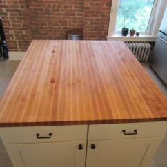 Kitchen Island Tops Aluminum Chairs Custom Butcher Block Top By Elias Furniture Made
