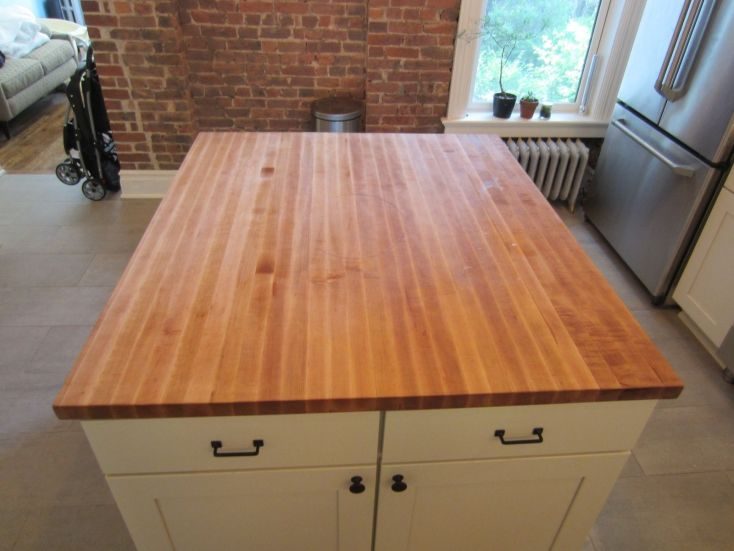 custom butcher block kitchen island top by elias custom furniture
