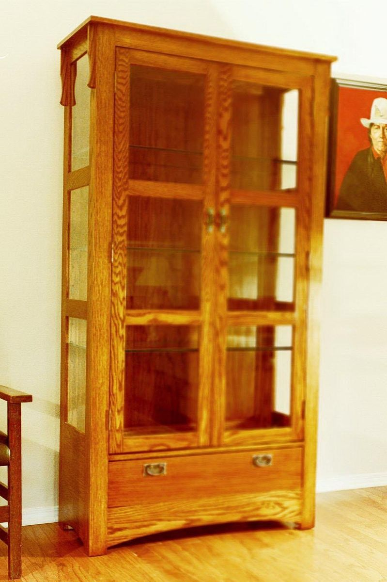 Hand Crafted Mission Curio Cabinet by Grayson Artistry In