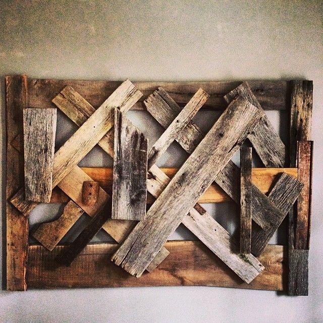 hand made reclaimed wood wall art by ausden inc custommade