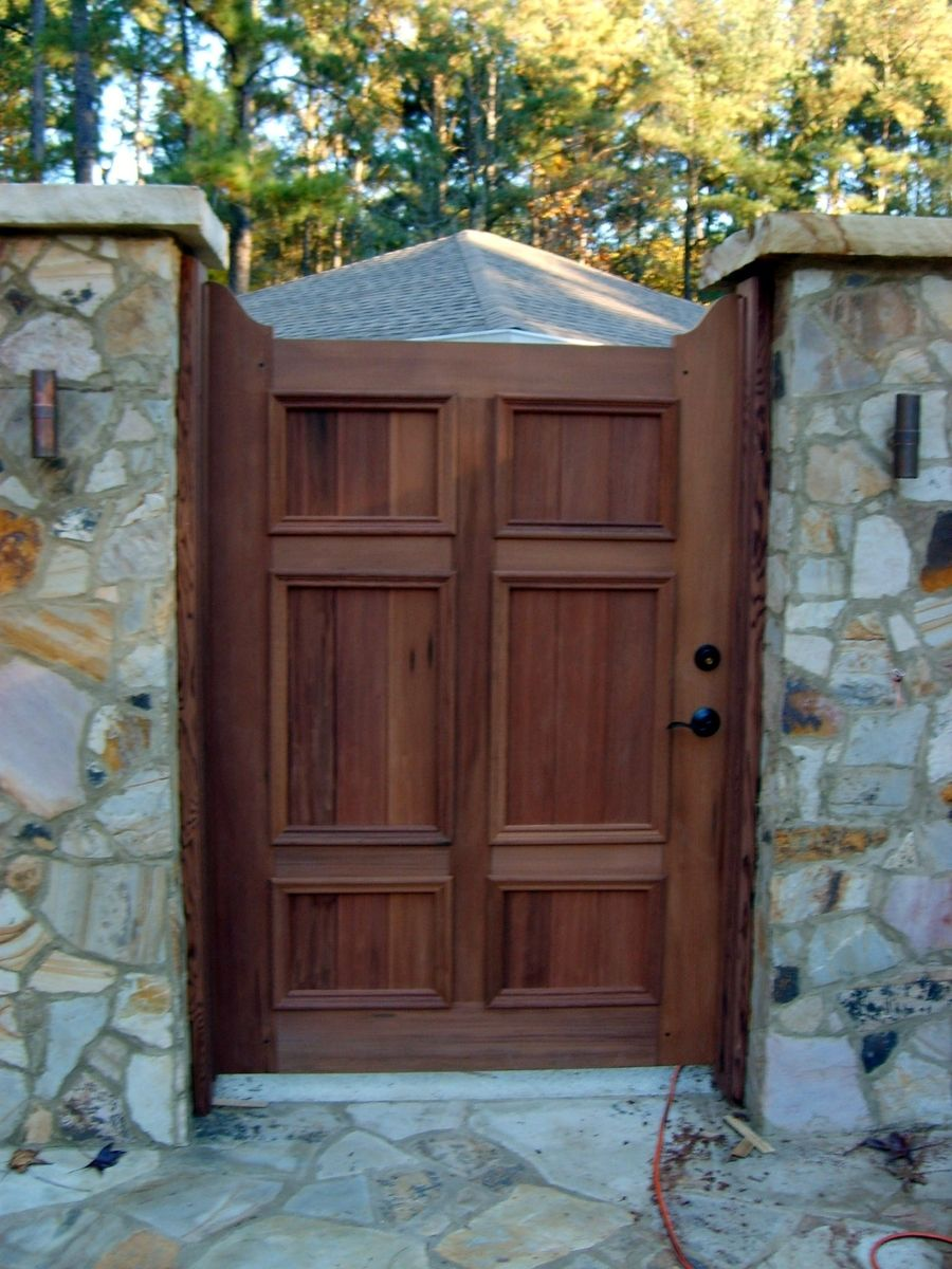 Handmade Redwood Garden Gate By Norms Custom Woodworking