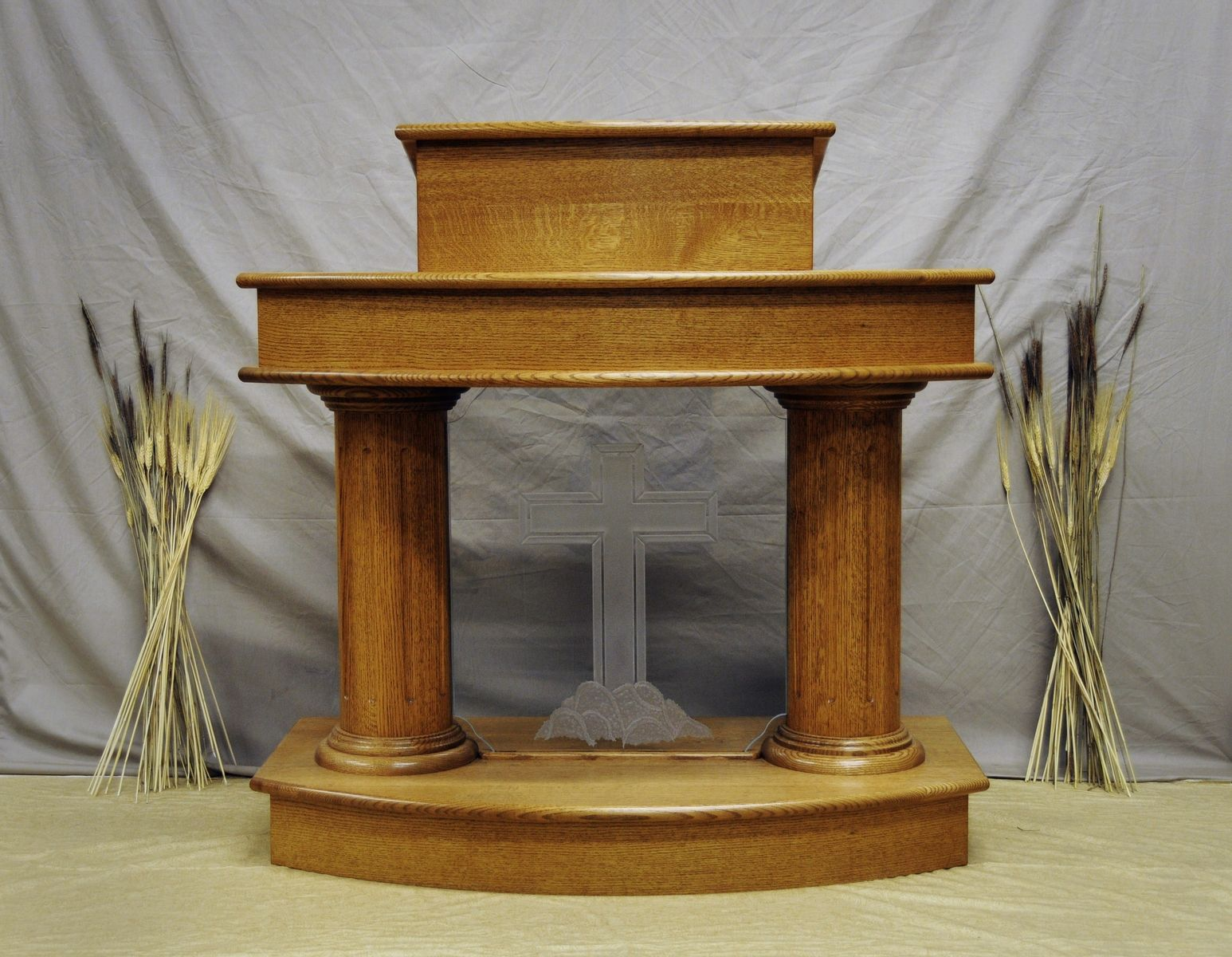 Hand Crafted The Harvest Pulpit by Yoder Custom Design