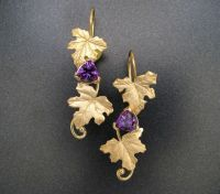 Custom 18k Gold Maple Leaf Earrings by Sculpted Jewelry ...