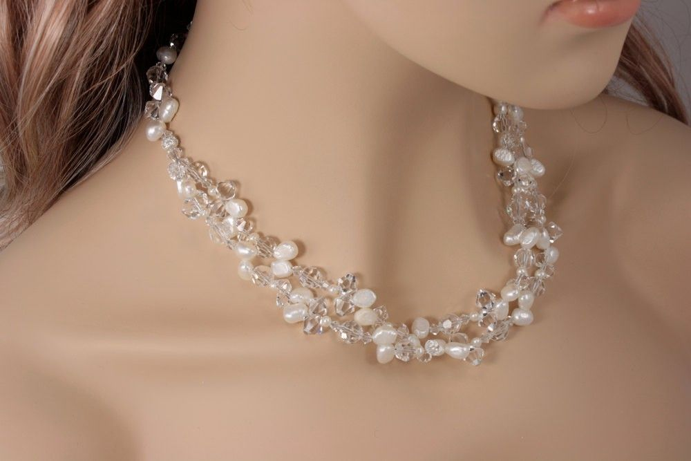 Hand Crafted Chunky Bridal Necklace