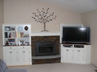 Custom Made Cabinets Around Fireplace by Meisterbuilders ...