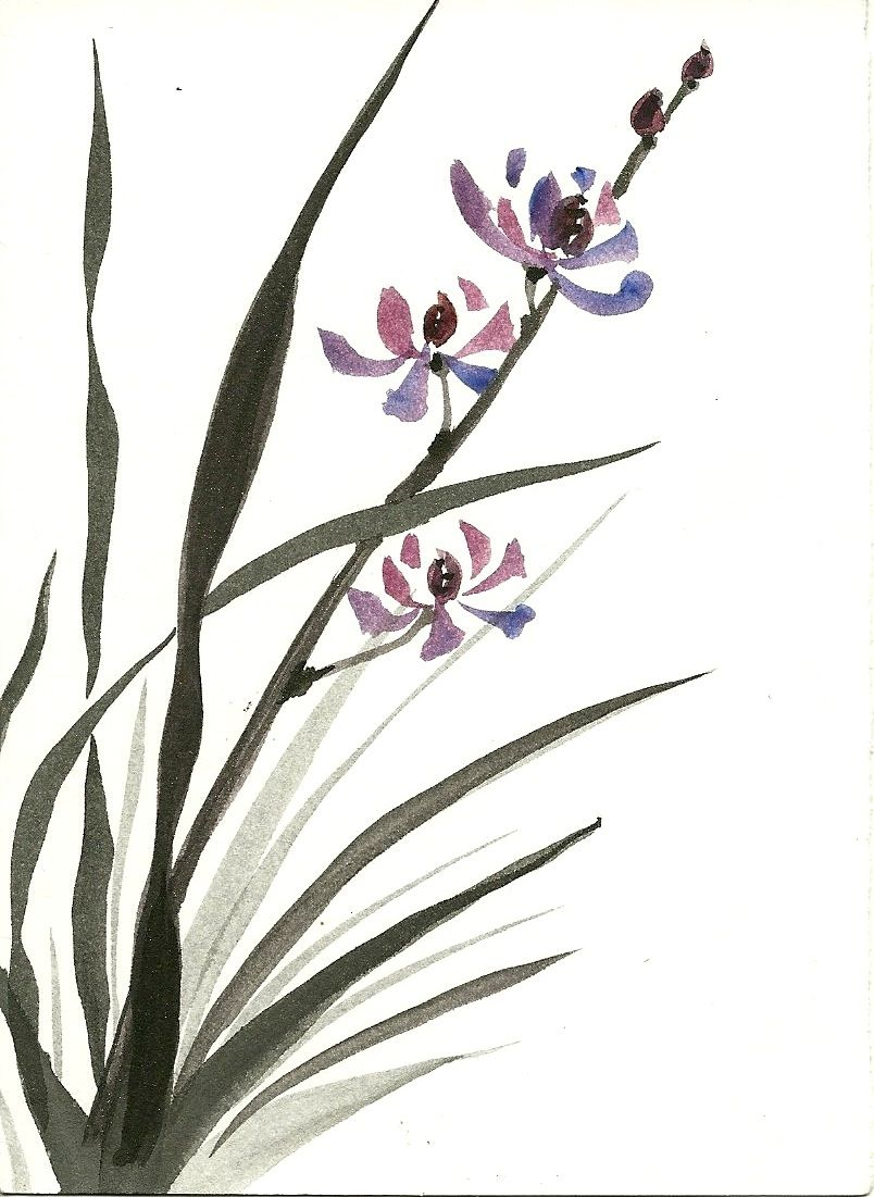 Hand Made Zen Japanese Ink Paintings Of Nature Scenes By