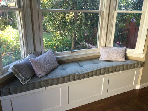 Custom Hand Tufted Mattress Cushion Window Seat Bench Day Bed