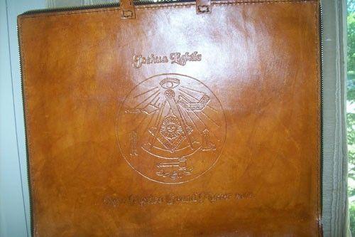 Buy A Handmade Custom Leather Masonic Apron Case Made To