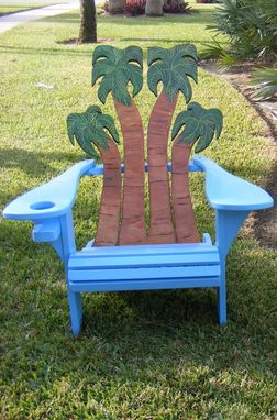 Hand Crafted Adirondack Chair Palms Design By Island