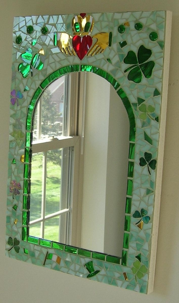 Handmade Irish Mosaic Mirror By Glassarts Studio