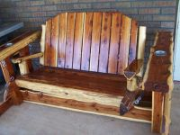 Custom Made Rustic Cedar Glider Swing by Wild West ...