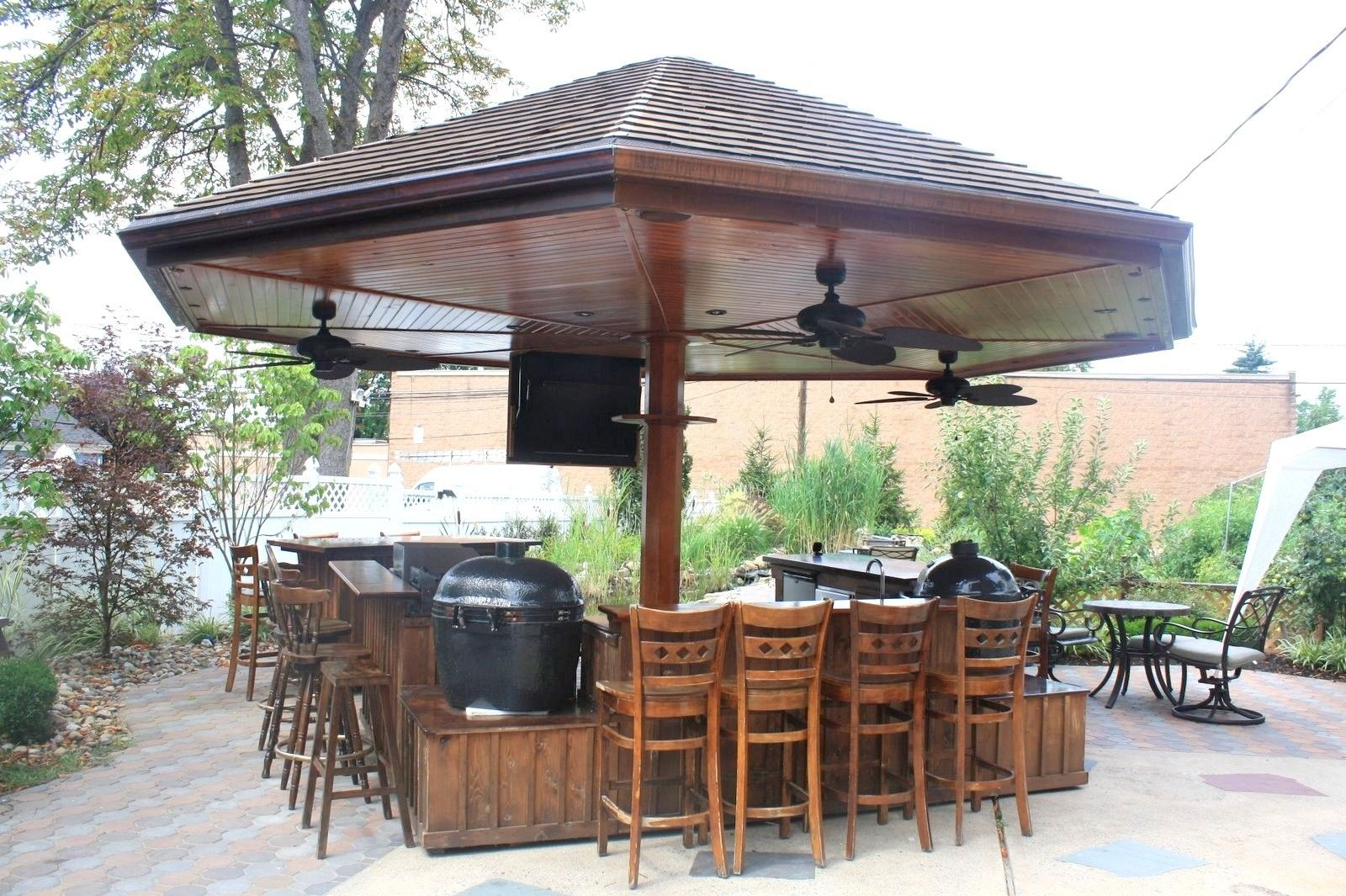 Handmade Primo Grill Outdoor Kitchen And Bar by Deck