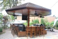 Handmade Primo Grill Outdoor Kitchen And Bar by Deck ...