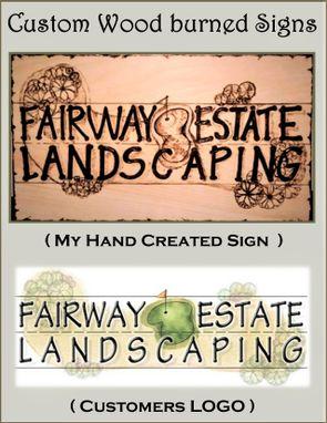 hand made signs custom