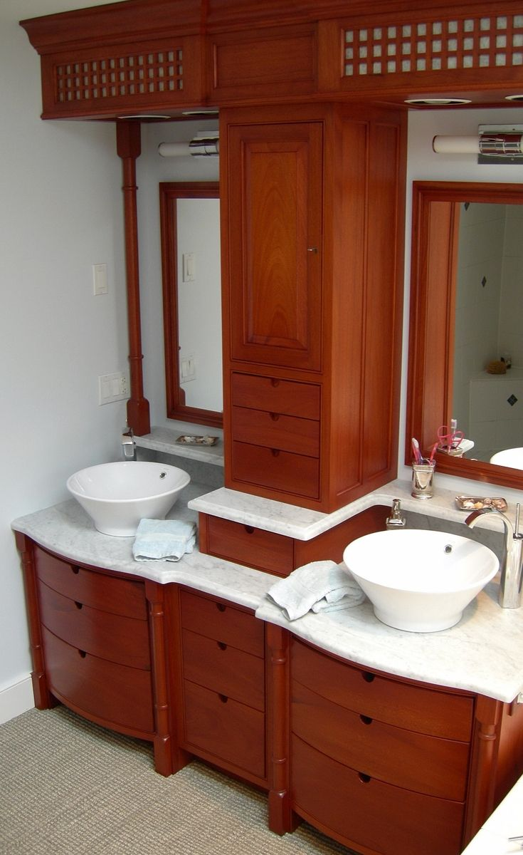 Hand Made Bathroom Vanity by Knecht Woodworking  CustomMadecom