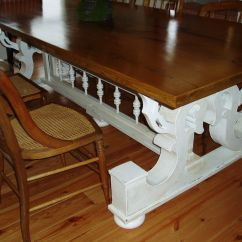 Bedroom Chair M&s Twin Pull Out Hand Made Harvest Table Supported By Architectural Corbels
