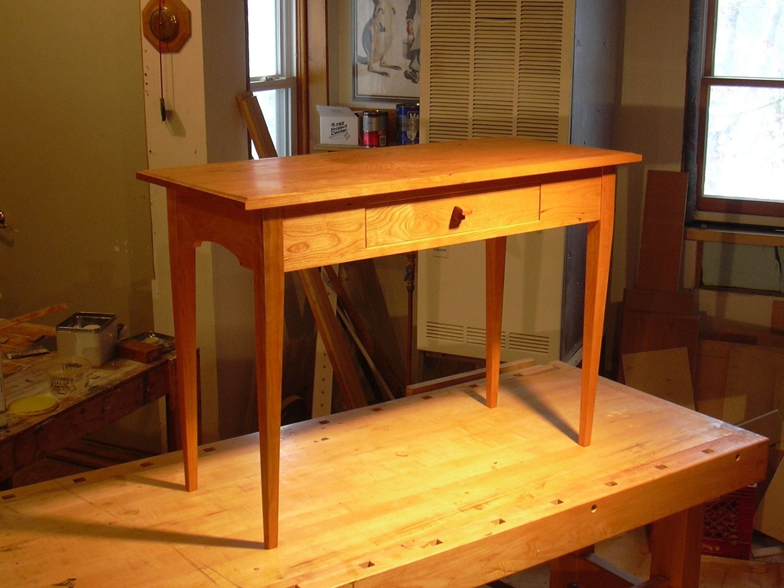 Custom Small Hall Table by Blue Hill Cabinet  Woodwork