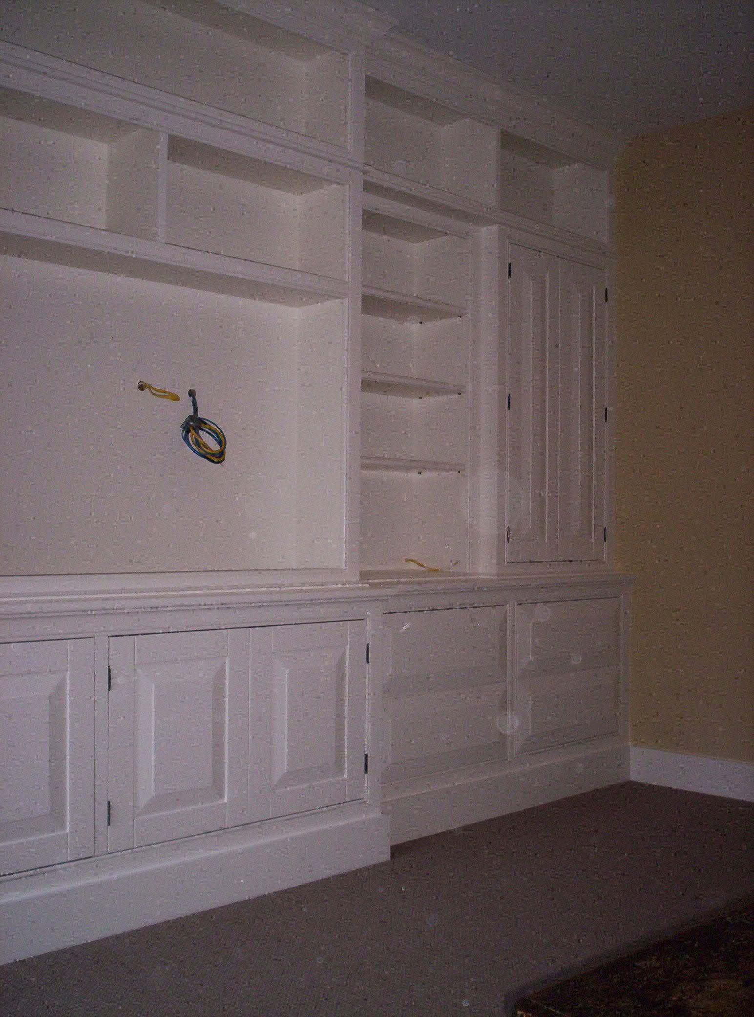 Handmade Large BuiltIn Painted WallUnit by Dan Fabian