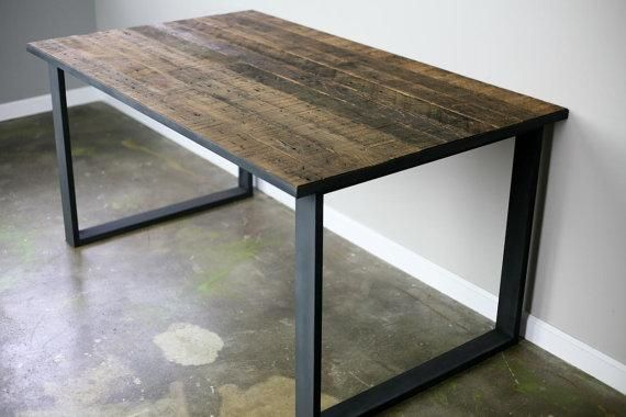 Buy a Hand Made Modern Industrial Dining TableDesk