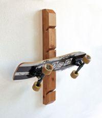 Buy a Hand Made Skateboard Rack - Wall Mount Skateboard ...
