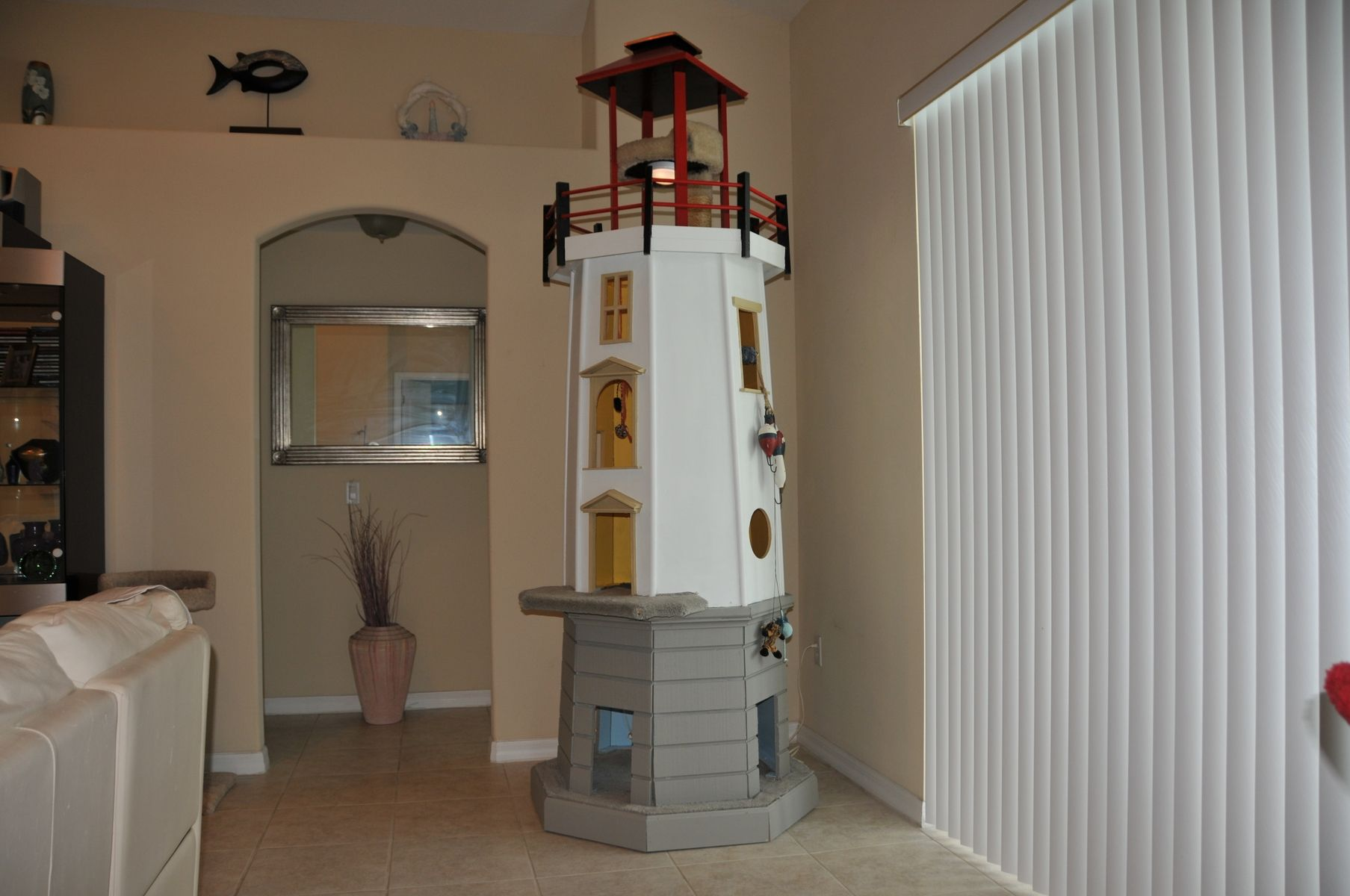 Handmade Lighthouse Cat Tower By Square Paws