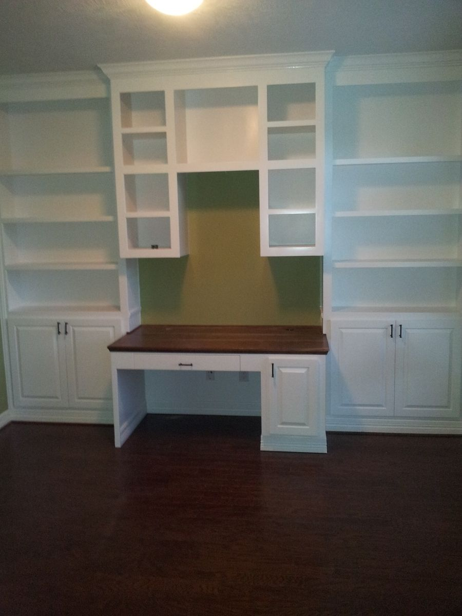 Hand Made Home Office Book Shelves And Desk by Rockytop