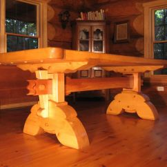 Reclaimed Wood Kitchen Tables Commercial Hoods Custom Made Heavy Timber Dining Table By Timberrworks ...
