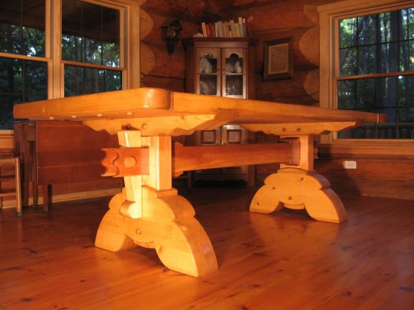 Custom Heavy Timber Dining Table Timberrworks