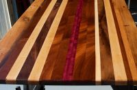 Hand Crafted Reclaimed Wood Countertop, Custom Tabletop ...