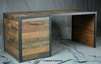 Buy a Handmade Reclaimed Wood Desk With File Cabinet ...